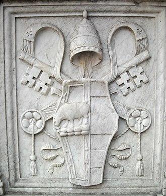 Pope Alexander VI - Coat of arms of Alexander VI – Castel Sant'Angelo, Rome