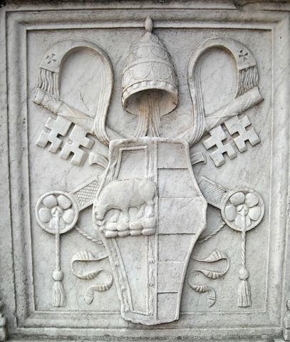 filecoat of arms of pope alexander vi borgia castel