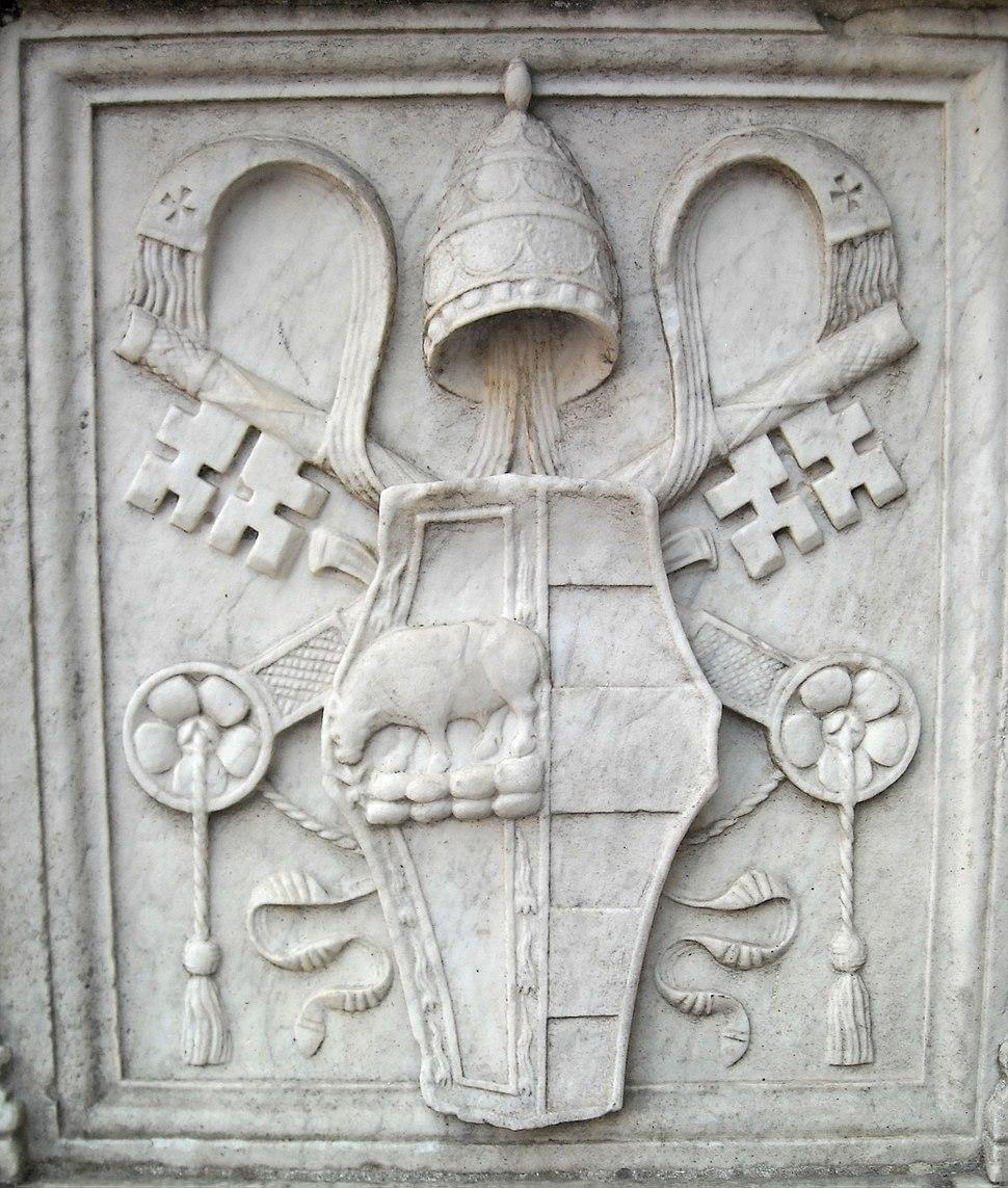Coat of Arms of Pope Alexander VI Borgia - Castel Sant'Angelo, Rome