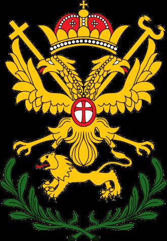Arsenije III Čarnojević - Image: Coat of arms of Serbian Patriarch Arsenije III Ver 2