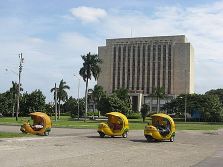 Three-wheeled Coco taxis in Havana, Cuba - Auto rickshaw