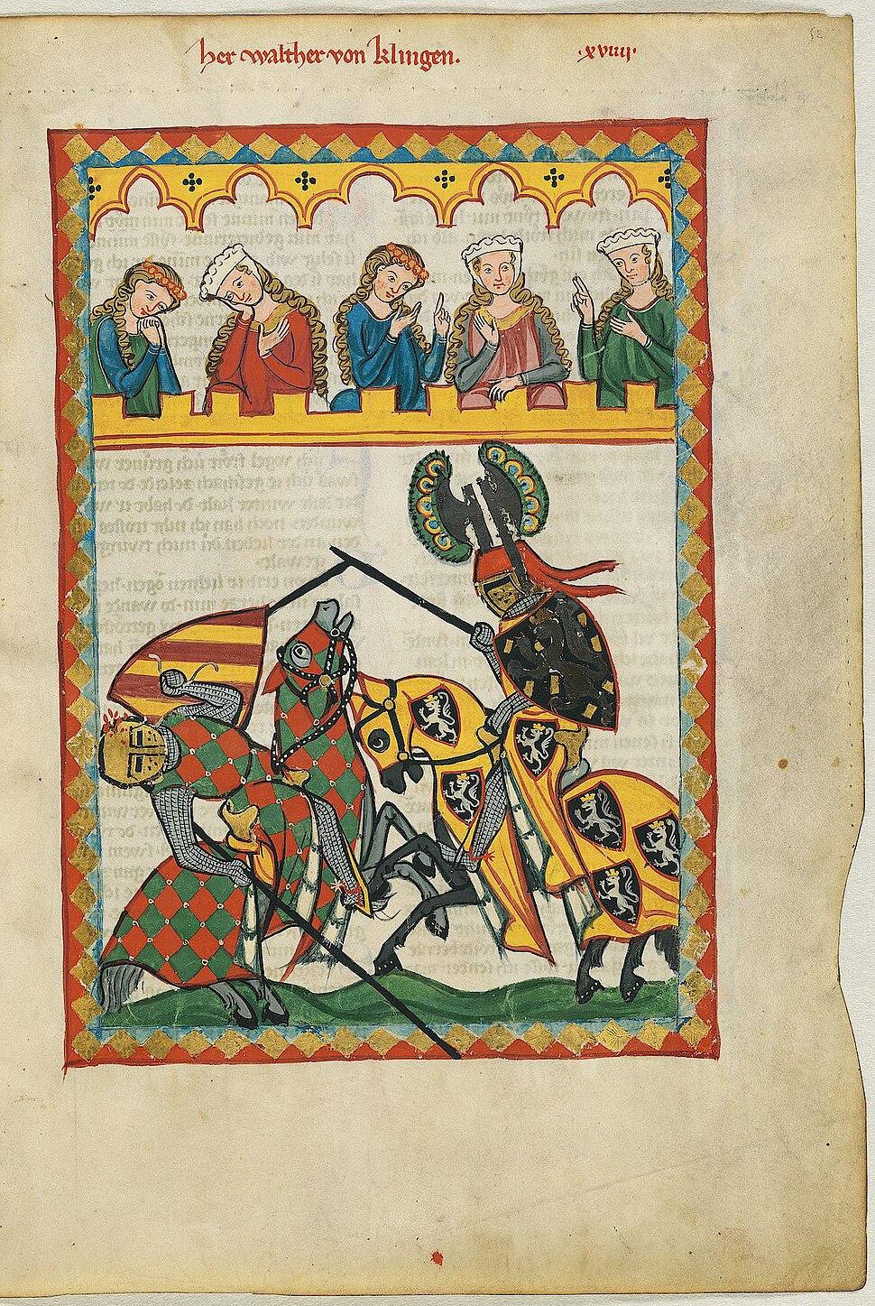 Codex Manesse 052r Walther von Klingen
