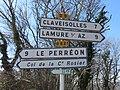 Col de la Croix de Marchampt - Panneaux directionnels 1 (mars 2019).jpg