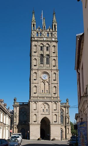 Collegiate Church of St Mary, Warwick - The tower in 2016