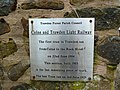 Colne and Trawden Light Railway, Plaque (geograph 3451314).jpg
