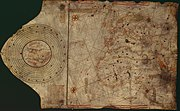 "The ""Colombus map"" was drawn circa 1490 in the workshop of Bartolomeo and Christopher Colombus in Lisbon."