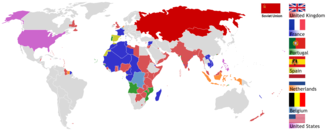 European colonialism - Colonial empires in the world around 1945