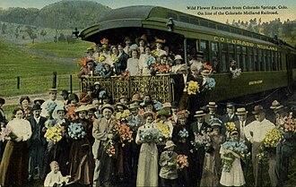 Colorado Midland Railway - Wild flower excursion from Colorado Springs, 1917.