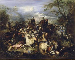 Joseph Parrocel - Battle of Leuze (ca. 1691)