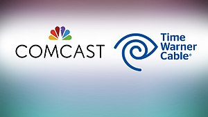 Attempted purchase of Time Warner Cable by Comcast - The Comcast and Time Warner Cable logos