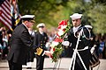 Commander of the Royal Canadian Navy lays a wreath at Tomb of the Unknown Soldier, Arlington National Cemetery (16595275674).jpg