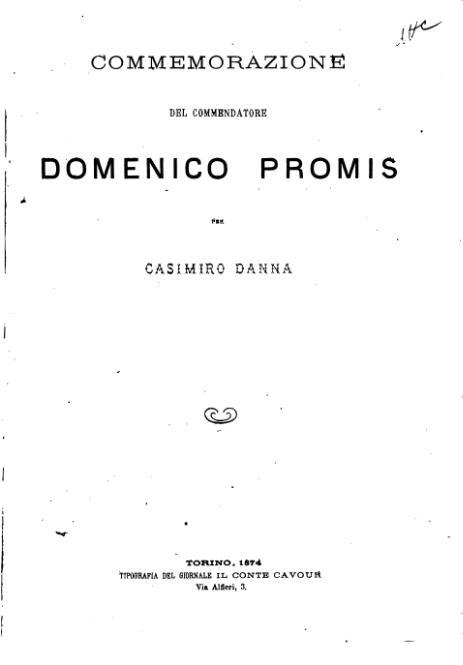 File:Commemorazione del commendatore Domenico Promis.djvu