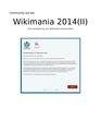 Community auf der Wikimania 2014 in London - eine Auswertung von Wikimedia Deutschland.pdf