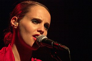 Anna Calvi - Calvi in a performance in Sala KGB, 17 September 2011