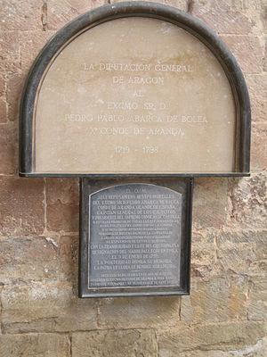 Pedro Pablo Abarca de Bolea, 10th Count of Aranda - Image: Conde de Aranda