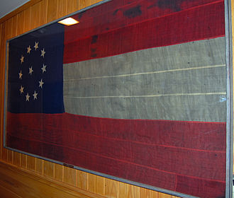 Fort Jackson, Louisiana - Confederate National Flag captured from Fort Jackson