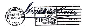 Style (manner of address) - Image: Congressional Frank 1921 T.S. Butler
