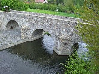 Freiberger Mulde - Image: Conradsdorf, alte Muldenbrücke, 1501 erbaut