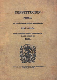 1824 Constitution Of Mexico Wikipedia