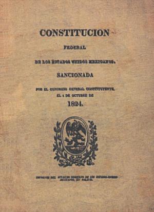 1824 Constitution of Mexico - Original front of the 1824 Constitution