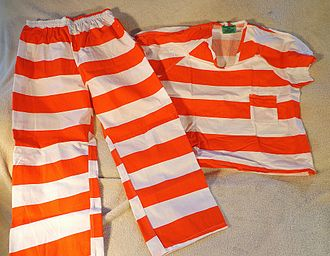 Prison uniform - Striped prison uniform, contemporary design as used in the United States and other countries