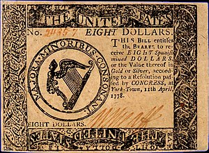 Continental Currency $8 banknote obverse (April 11, 1778).jpg