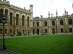 Corpus Christi College, the buildings surrounding the Old and New Courts including the Master's Lodge
