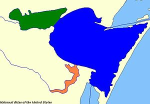 Corpus Christi Bay - Corpus Christi Bay (blue), Oso Bay (orange), Nueces Bay (green)