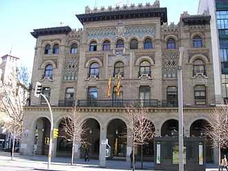 Neo-Mudéjar - Post office (Correos) of Zaragoza