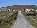 Cottages below the hill at Aghaglasheen-Achadh Ghlaisín - geograph.org.uk - 1880642.jpg