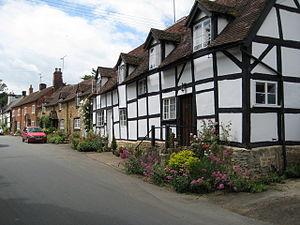 Elmley Castle - Image: Cottages in Elmley Castle