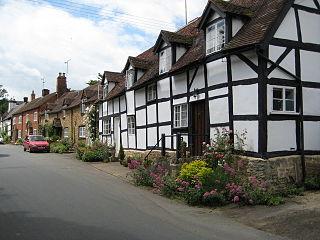 Elmley Castle village in the United Kingdom