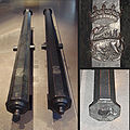 Coulevrines moyennes French work Francis I 1520 82mm 77mm 295cm 617kg iron ball 1500g alt.jpg
