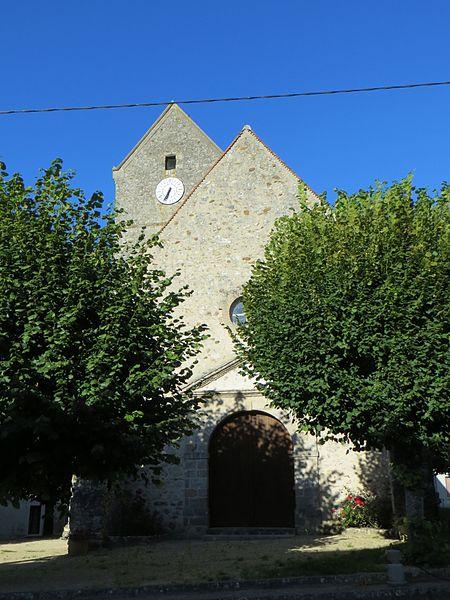 Vue générale de l'église, façade ouest