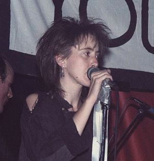 Crass singer Joy de Vivre, 1984.