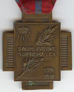 Fire Cross 1914–1918 - Image: Croix du Feu Revers