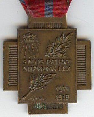Fire Cross 1914–1918 - Image: Croix du Feu Revers