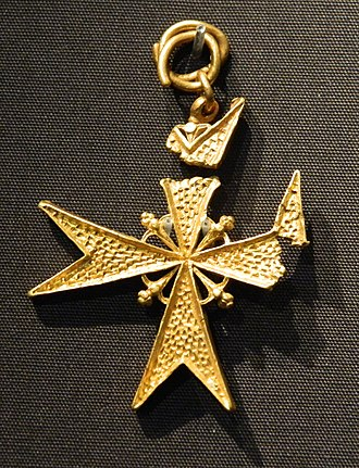 Girona (ship) - Gold Cross of a Knight of Saint John of Jerusalem (Knights of Malta)