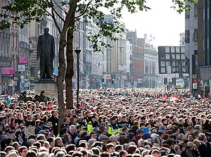 College Green - Crowds gather on College Green to see U.S. President Barack Obama in 2011.