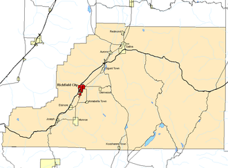 Richfield, Utah - Richfield is highlighted in red
