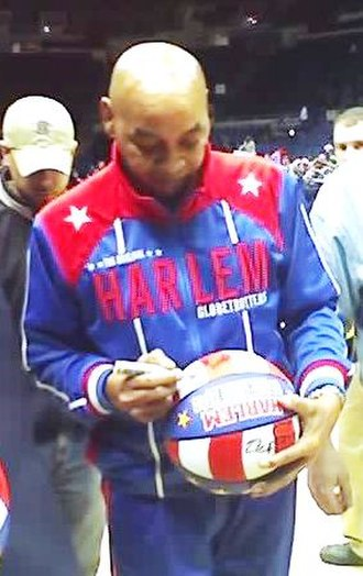 Curly Neal - Curly Neal signing a ball at Nassau Coliseum on Long Island