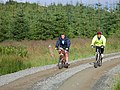 Cycling in Achnabreck Forest - geograph.org.uk - 496707.jpg