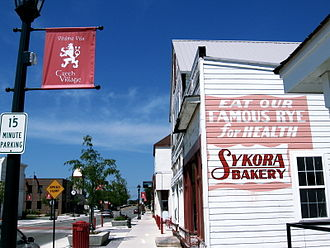 Cedar Rapids, Iowa - Czech Village is at the heart of the city's Czech heritage. Pictured is Sykora Bakery which is now open to the public.