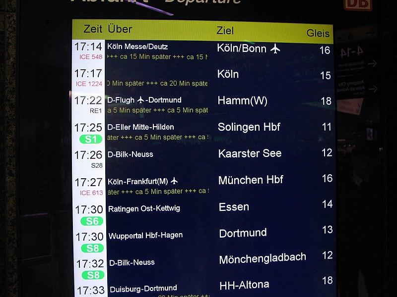 File:Düsseldorf Hbf, Gleis 15-16 RE 1 verspätet, 2012. - panoramio.jpg