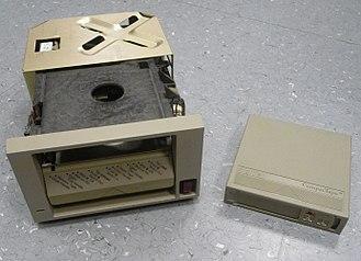 Digital Linear Tape - DEC TK50 drive and cassette