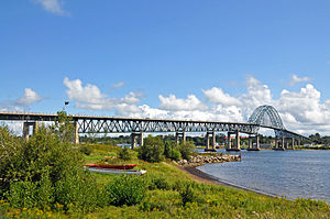 Bridge across the Miramichi River in northeast...