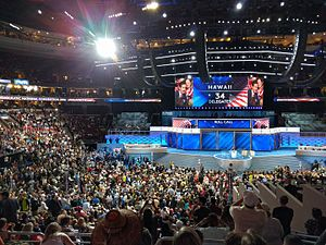 Hawaii Democratic caucuses, 2016 - Hawaiian delegation participates in the roll call vote at the 2016 Democratic National Convention