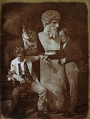 "David Octavius Hill and Professor James Miller. Known as 'The Morning After ""He greatly daring dined""'.jpg"