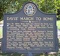 Davis' March To Rome Sign, Floyd County, Georgia.jpg