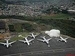 Decolando da pista 09 L do Aeroporto Internacional de São Paulo-Guarulhos (SBGR-GRU). Área recém construída próxima ao Terminal de Passageiros 3 (TPS 3). Ao fundo, o Rio Baviquiru-Guaçu que circ - panoramio.jpg
